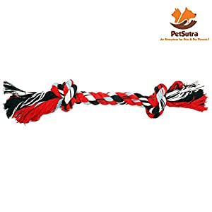 PetSutra Cotton Durable Dog Chew Rope Toy for Puppies & Small Dogs (Colour May Vary)
