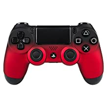 eXtremeRate Shadow Red Faceplate Cover, Soft Touch Front Housing Shell Case, Comfortable Soft Grip Replacement Kit for Playstation 4 PS4 Controller JDM-001 JDM-011 JDM-020