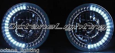 OCTANE LIGHTING 5-3/4 White Led Angel Eye Motorcycle Halo H4 Headlight Blinker Turn Signal Light
