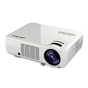 Abdtech 2600 Lumens LED Home Theater Projector Support HD 1080P Video- 5.0 Inch LCD TFT Display With Optical Keystone USB/AV/HDMI/VGA(White)