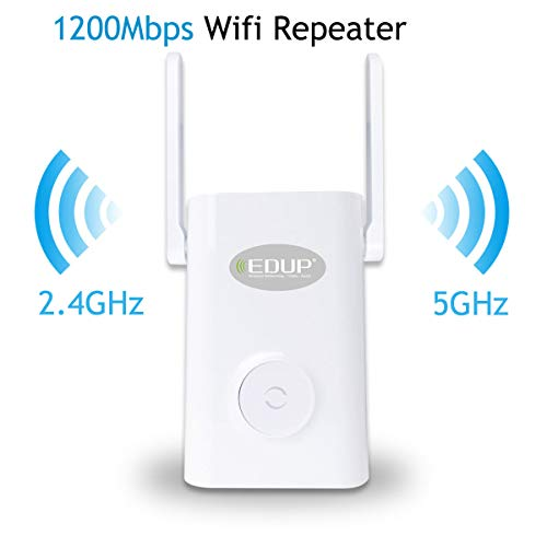 WiFi Range Extender, 1200Mbps WiFi Signal Booster, Wireless Network Repeater 2.4/5GHz Dual Band External Antennas, WAP Wireless Access Point – WISP Wireless Signal Amplification
