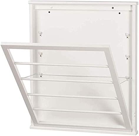 Amazon Com Palos Designs Space Saving Wall Mount Drying Rack Large Classic White Home Kitchen