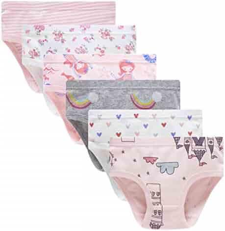 904fd697d7c Cadidi Dinos Little Girls Soft Underwear Toddler Baby Panties Kids Briefs ( Pack of 6)