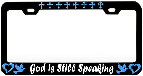 GOD IS GOOD ALL THE TIME RELIGIOUS CHRIST Heavy Metal License Plate Frame Tag