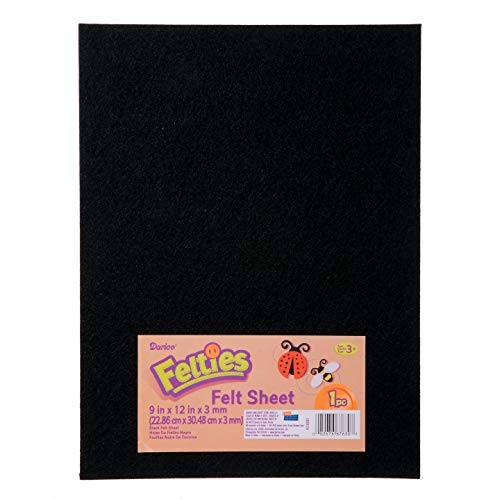 Bulk Buy: Darice DIY Crafts Felties Felt Sheet Black 9 x 12 inches (5-Pack) FLT-0032 by Darice