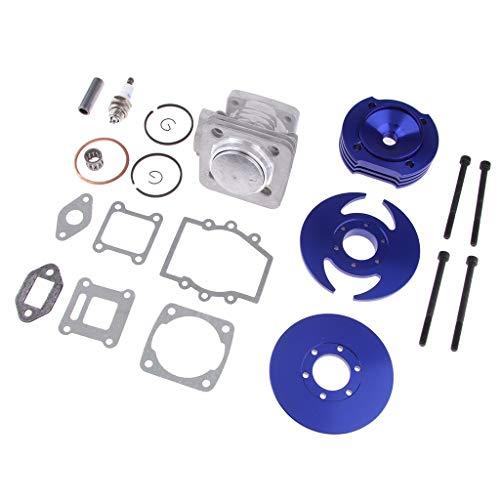 kesoto Kit De Pistón De Eje De Cilindro Grande De 44 Mm para 49CC 2-Stroke Mini Dirt Pocket Bike - Azul