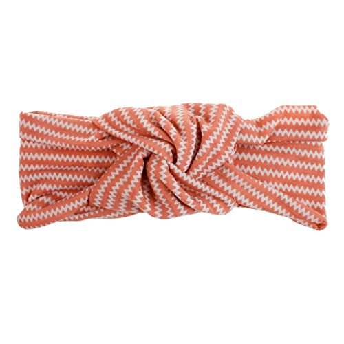 (iNoDoZ Women's Fashion Colorful Stripes Headband Boho Print Cross Criss Knot Tie Headwrap Hairband Hoop Accessories)