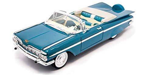 1959 Chevrolet Impala Convertible, Blue - Road Signature 92118 - 1/18 Scale Diecast Model Toy Car