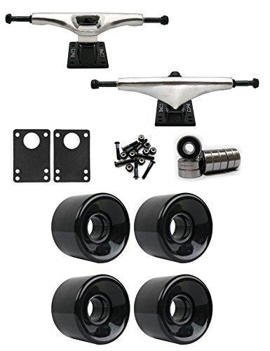 コア6.0 Longboard Trucksホイールパッケージ59 mm x 43 mm 83 aブラック [並行輸入品]   B078WVNKD3