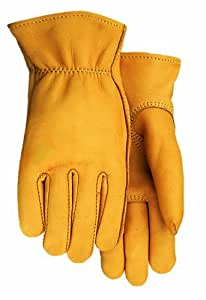 Midwest Gloves and Gear 950V-L-AZ-6 Heavy Weight Elkskin Work Gloves, Large