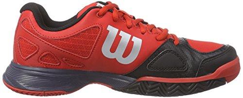 Wilson RUSH PRO JUNIOR - Zapatillas de tenis infantil Rojo / Negro / Gris