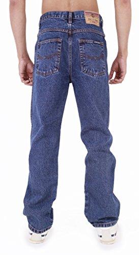 Straight aztecHerren darkwash legJeanshose-couleur : bleu