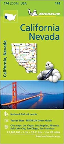 Amazon Com Mapa Zoom Usa California Nevada Mapa Zoom Michelin 9782067190511 Michelin Books