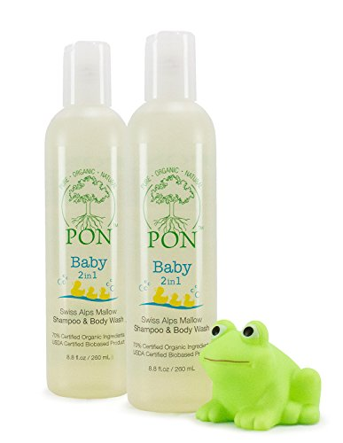 PON - Pure Organic Natural - Baby 2in1 Aloe Vera Based Shampoo and Body Wash, Tear-Free, Sulfate and