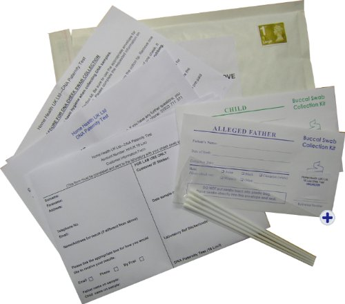 DNA Testing Kit - 99.99% Accurate Paternity Swab Test - Fully Inclusive Price - nothing more to pay
