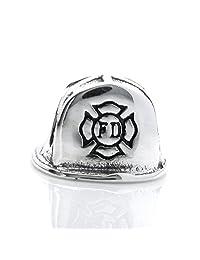 Sterling Silver Helmet Firefighter Hat Bead For European Chamilia Biagi Troll Pandora Charm Bracelets