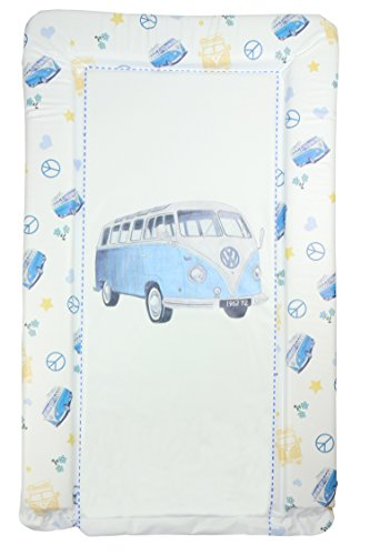 Blue VW Camper Van Baby Changing Mat - Blue Camper