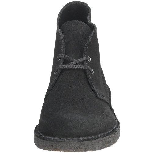 Clarks Originali Da Uomo Desert Boot In Camoscio Nero