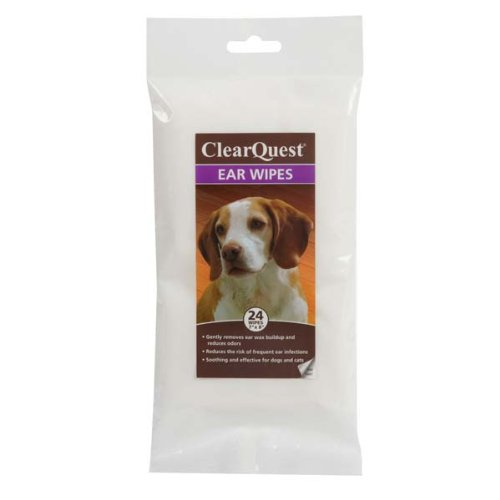 ClearQuest Ear Wipes  -  Pre-Moistened Wipes that Gently Rem