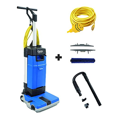 COMBO! Clarke MA10 12E Floor Scrubber w/ Carpet Kit, Hose/Wand, and 50 ft. Cord by Clarke