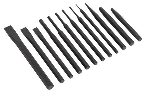 Sealey S0802 Punch and Chisel, Set of 12 by Siegen (Sealey Chisel)
