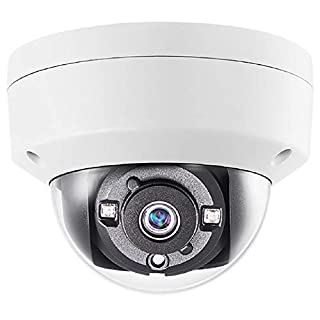 Monoprice 5MP HD-TVI Dome Security Camera 2560x1944@20fps Vandal Proof - White With 2.8mm Fixed Lens, Night to Day Color Vision and IP67 Waterproof Rating