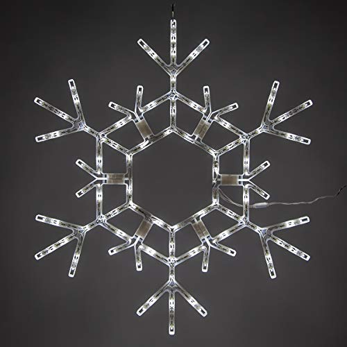 Outdoor Snowflake Icicle Lights in US - 7