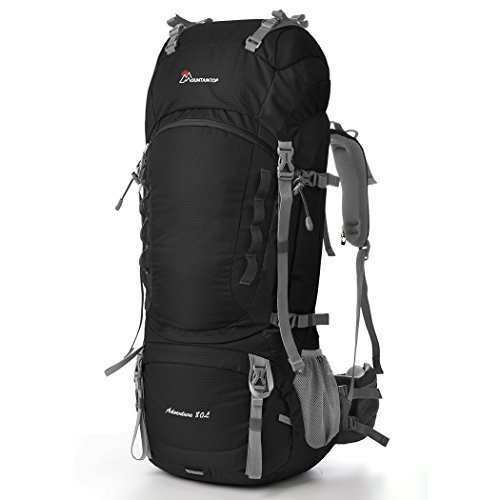 Mountaintop 80L Outdoor Sport Water-resistant Internal Frame Backpack Hiking Backpack Backpacking Trekking Bag with Rain Cover YKK buckle for Climbing camping Travel and Mountaineering