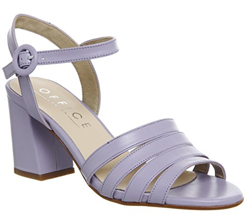 Lilac Strappy Leather Heels Myla Mid Office Block X15xnY