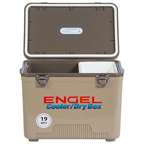 ENGEL COOLERS 19 QUART COOLER/DRY BOX - TAN