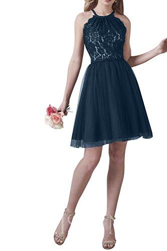 La_mia Brau Attraktive Spitze Mini Abendkleider Partykleider Festlichkleider Damenmode Jugendweihe Kleider Cocktailkleider Navy Blau 5R4AWOyqz