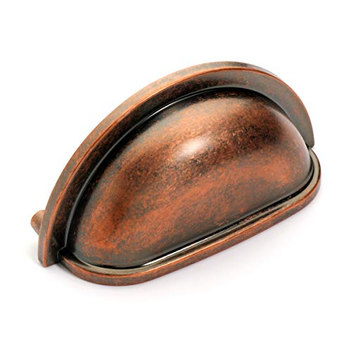 Antique Cup Pull Cabinet (Dynasty Hardware P-2769-AC-10pk Cabinet Hardware Bin Pull, Antique Copper, 10-pack)