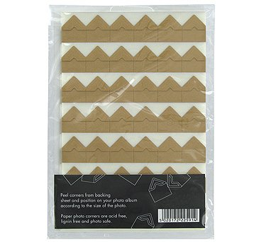 Kraft photocorners - pack of 252 Paperchase