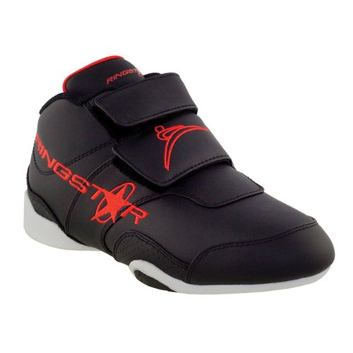 Ringstar Fight Pro Sparring Shoe Black w/Red R0n5FU4Rj
