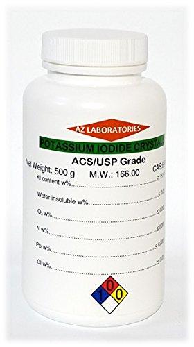 Potassium Iodide Reagent ACS/USP Granular Crystalline 99.9% Pure 0.5 kg 500 g by 3D Store