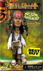(Pirates of the Caribbean Dead Man's Chest Cannibal Jack Resin Head Knocker)