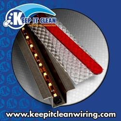 Keep It Clean 11434 Light Kit GhostLight - Clear w/Amber LED 4.5' Single Flush Mount Light Kit with Sequencing