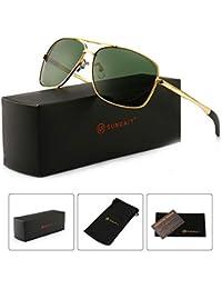 Men's Polarized Sunglasses Durable Metal Frame for...
