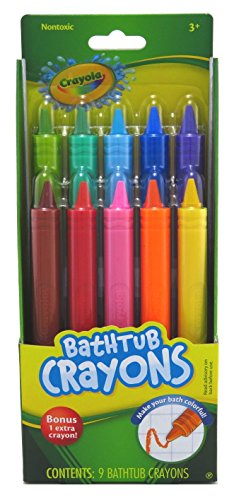 Play Visions Crayola Bathtub Crayons, 9 Count plus One Bonus extra crayon