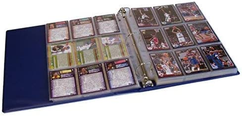 Hobbymaster Baseball Card Collector Album Binder with 25 Pages Blue Ball-in-Glove Design