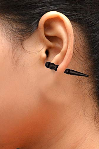 (Krishna Mart India A Pair of Tribal Organic Wooden Earrings Wood Faux Plugs Tapers Sew_7)