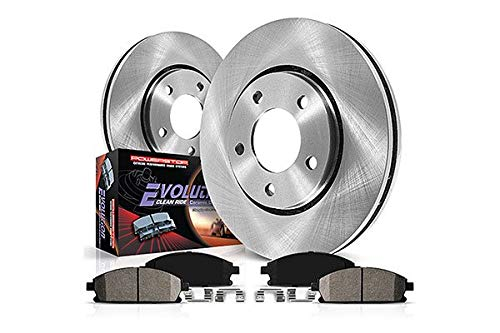 Power Stop Autospeciality KOE6796 Front & Rear Kit-Stock Rotors and Ceramic Brake Pads