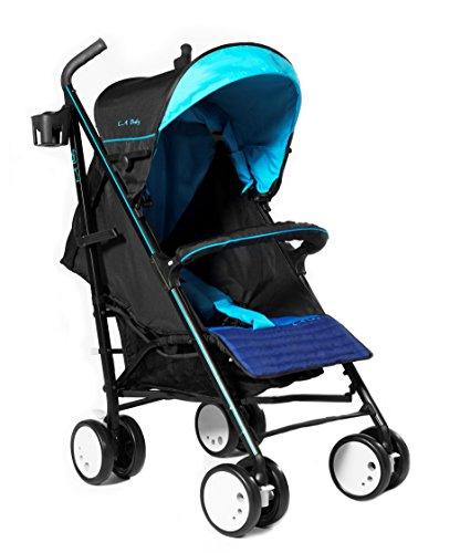 LA Baby Sherman Blvd Stroller, Blue/Black by LA Baby