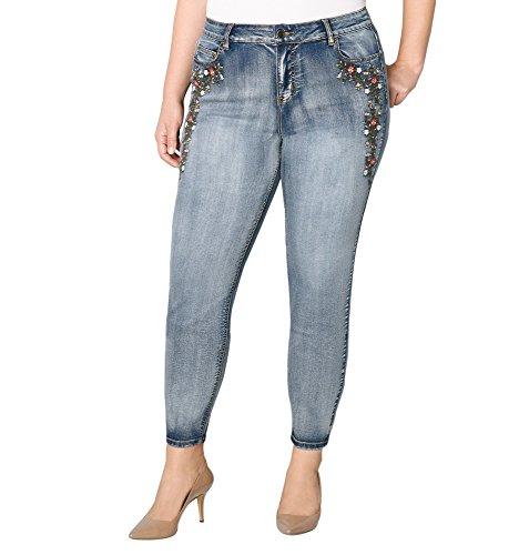l Embroidered Skinny Jean, 20 Medium Wash (Avenue Skinny Jeans)