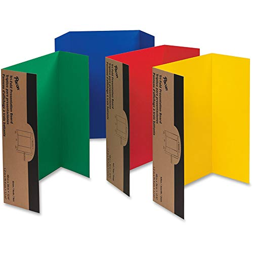 Walled Presentation Board - Pacon Corporation 3765 Single Walled Presentation Board,Tri-fold,48