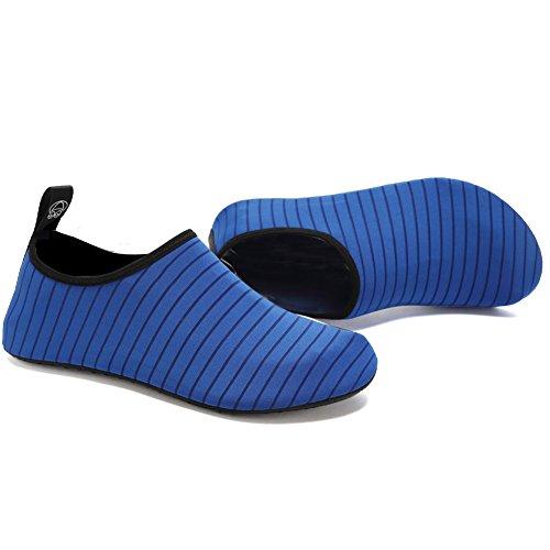 Cior Scarpe Acqua A Piedi Nudi Quick-dry Aqua Yoga Calzini Slip-on Per Uomo Donna Bambini Blu