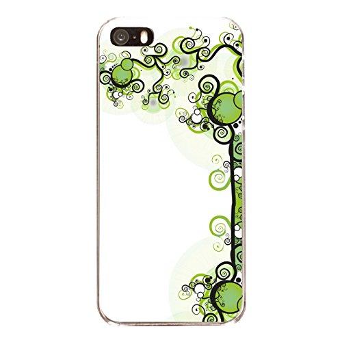 """Disagu Design Case Coque pour Apple iPhone SE Housse etui coque pochette """"Schwarz-Grüne Ranken"""""""