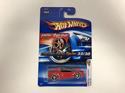 Ferrari F430 Wheel - Ferrari F430 Spider (Red Paint with Silver Rims) No. 033 Hot Wheels 2006 First Edition 1/64 scale diecast car