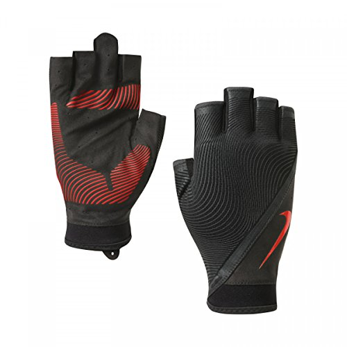 Nike Havoc Cross Training Gloves Wolf Grey/Anthracite/Total Crimson Athletic Sports Equipment, Men's Small by NIKE