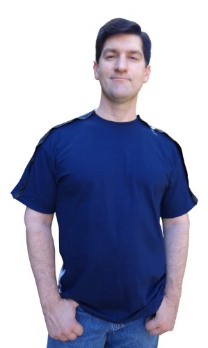 Blossom Breeze SureCare (TM) Post Surgery Wear | Men's T-Shirt | XL Navy Blue ()